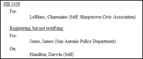 HB1436 Witness List