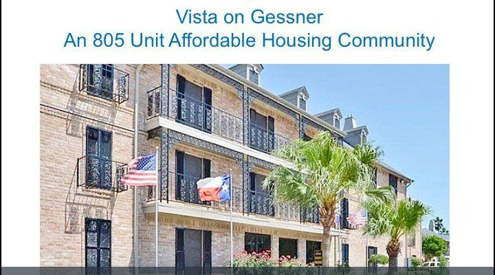 Houston HCDD- VISTA ON GESSNER TWEET